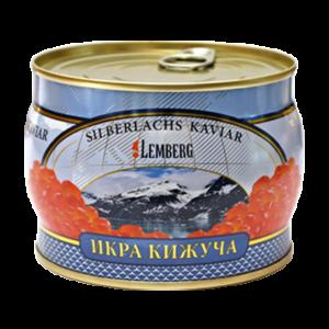 Красная лососевая икра кижуча ТМ Lemberg - Лемберг Германия жесть банка 500 грамм