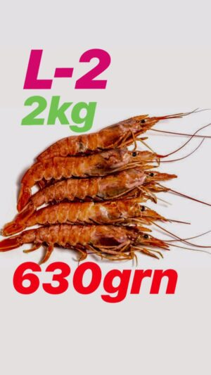 Krevetka argentinskaya v pantsire s / m 21-30 (2 kg)