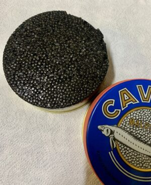Черная икра осетра CAVIAR MALOSSOL, 250гр