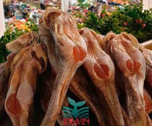 Азовський бичок в'ялений мартовік (березневий) з ікрою малосольний, великий